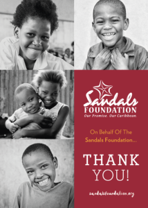 sandals foundation thank you